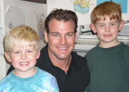 Dr. Baker with his the Dutro kids.