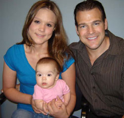Dr. Baker with his patient Stephanie Garrison and her daughter Brooke