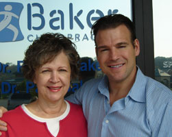 Dr. Baker with his patient Judy Gilman