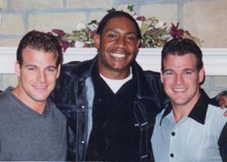 Corey Dillon with Dr. Paul and Dr. Patrick