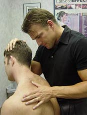 Muscle Injury Release Technique being used on a patient.