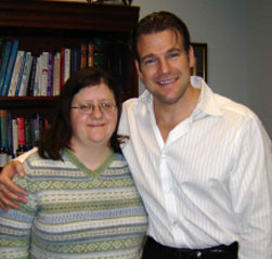 Dr. Baker with Michelle Tomblin