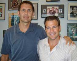 Dr. Baker with his patient Tony Schrank