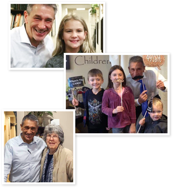 Collage of Dr. DiRubba and patients