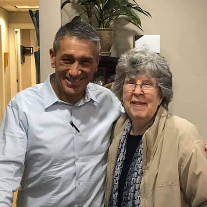 Dr. DiRubba with patient