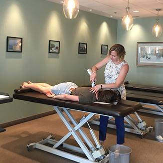 Dr. Royer adjusting