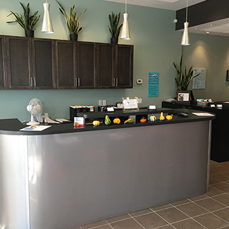 Reception area at Envive Chiropractic
