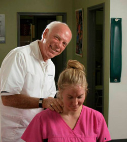 Photo of Dr. Wolverton demonstrating our techniques