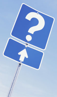 Question Mark Road Sugn
