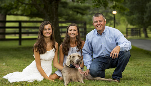 Dr. Brandon Wood with his family