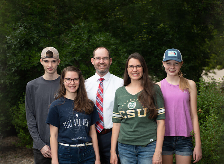 Dr. Oberg and his family
