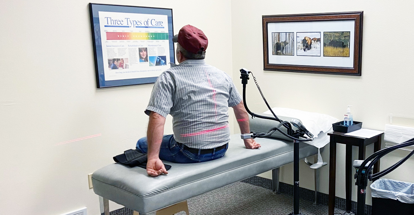 Patient sitting on table