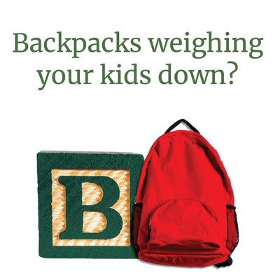 Backpacks weighing your kids down?