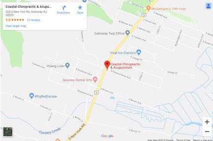 Galloway office Google Maps location.