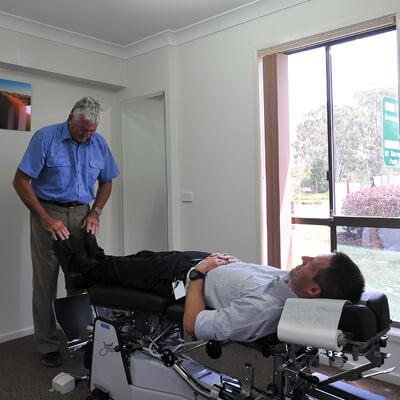 Dr Pickford examining patient