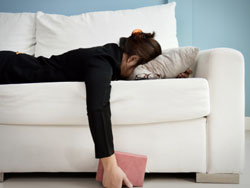 Woman on Couch