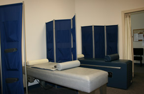 Here's the therapy room you'll visit when you're seeing the Chiropractors in North Raleigh!
