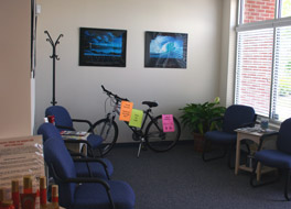 Reception room at Chiropractic Works