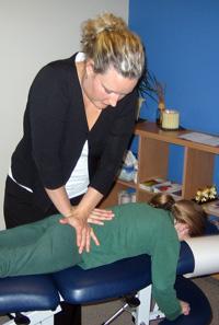 Dr Gillian Nixon adjusting.