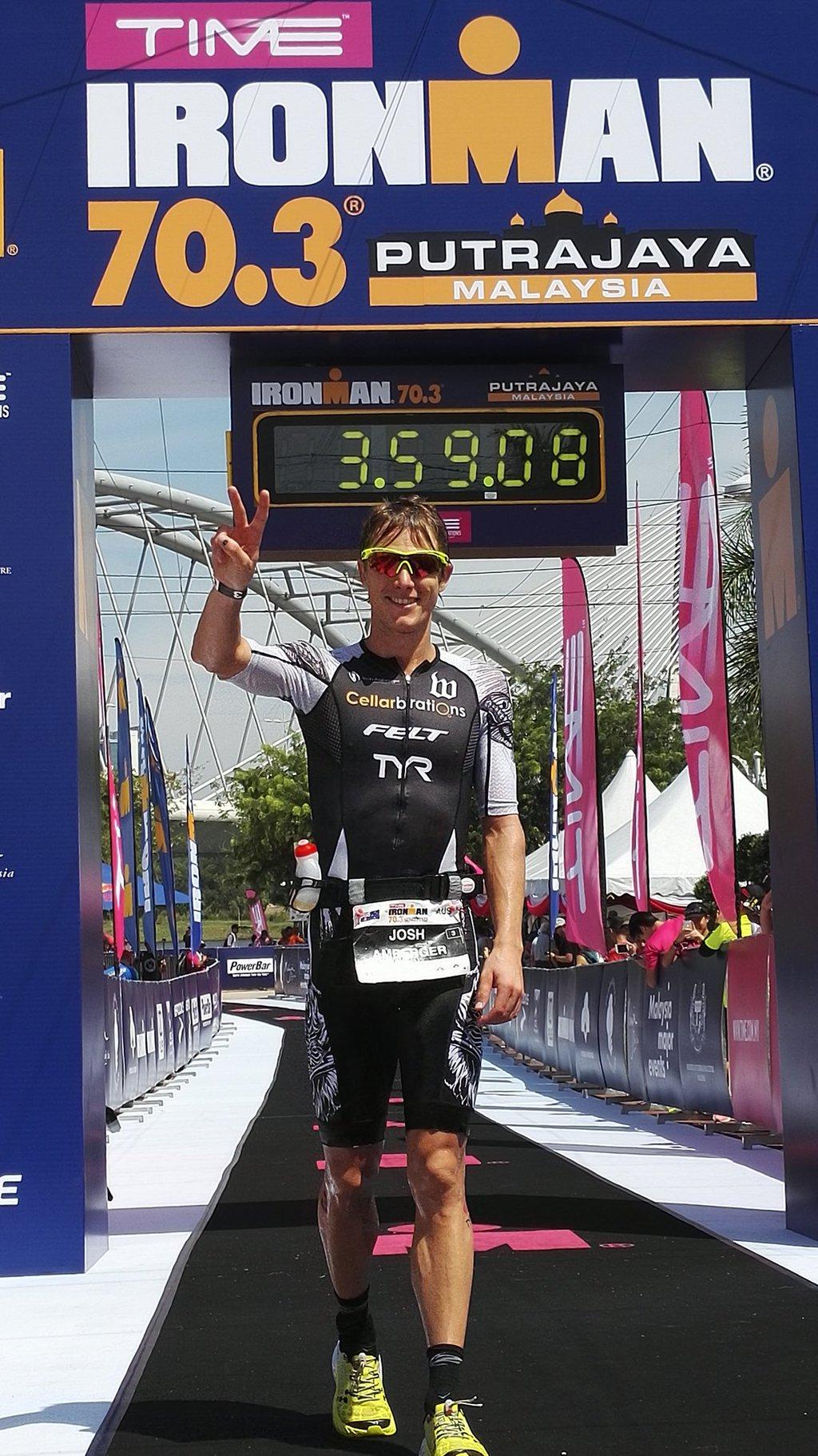 Josh Amberger at Ironman 70.3 Putrajaya