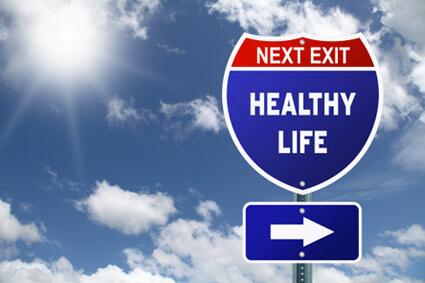 Next exit Health Life sign