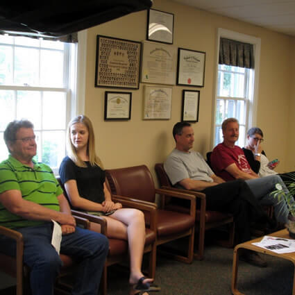 People in waiting area