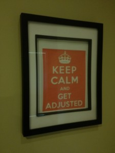decorations inside Stittsville Chiropractic office