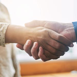 A close up of a handshake.