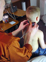 Child being scanned