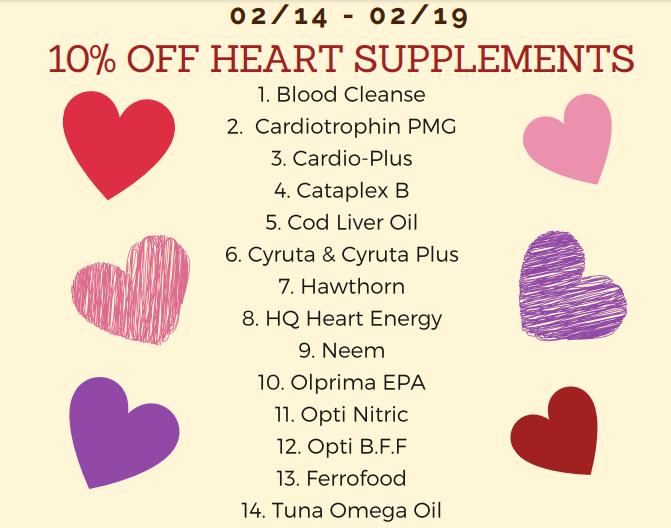 heart health supplement sale february 2021 alanta natural health