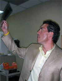 Dr. Hoffart looking xrays
