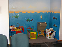 We have a special area for our youngest patients.