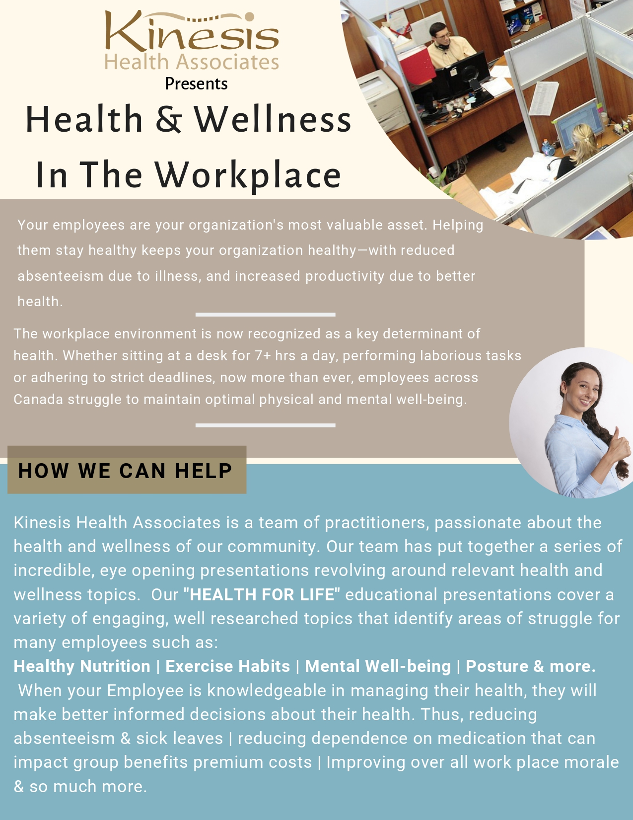 Health & Wellness in the workplace flyer, Page 1