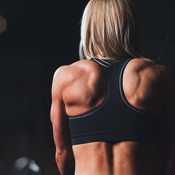 Athletic woman's spine