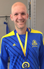 Cade wearing medal