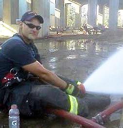 Patient Cody firefighter