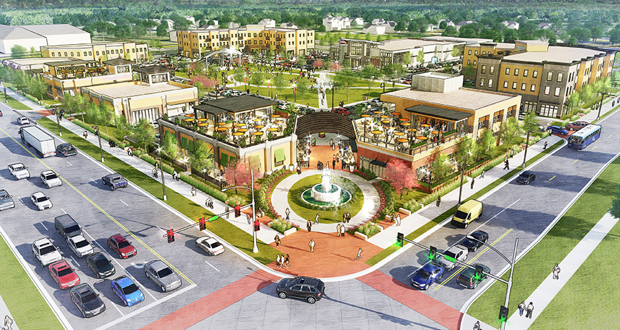 Development Rendering of the new Town Center