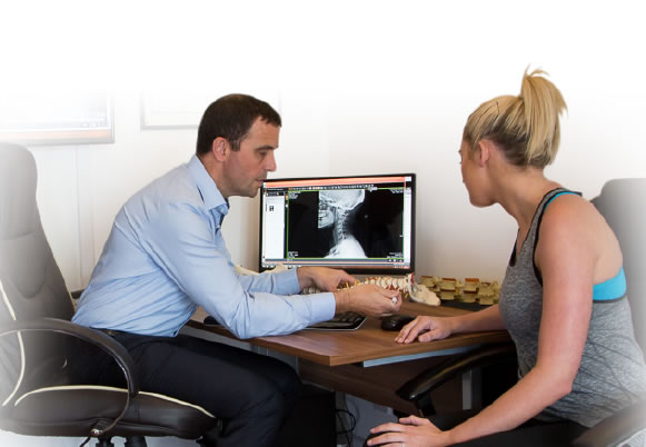 Doctor reviewing findings with patient