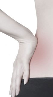 Woman experiencing hip pain