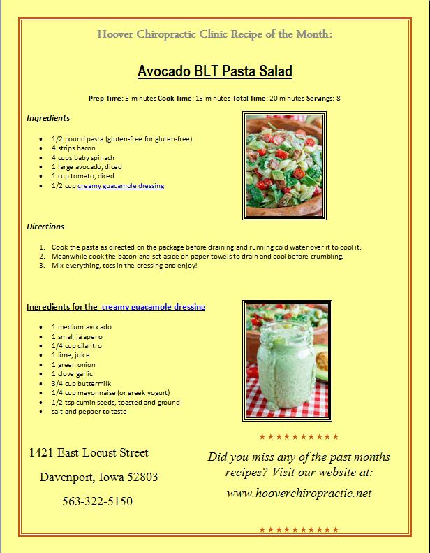 Avocado Bit Pasta Salad