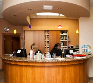 Front Desk at Parkside Health & Wellness Center