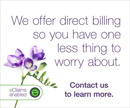 We offer direct billing!