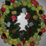 Pickleball Christmas Wreath, made from 60%+ up-cycled materials.