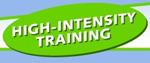 High intensity training infographic
