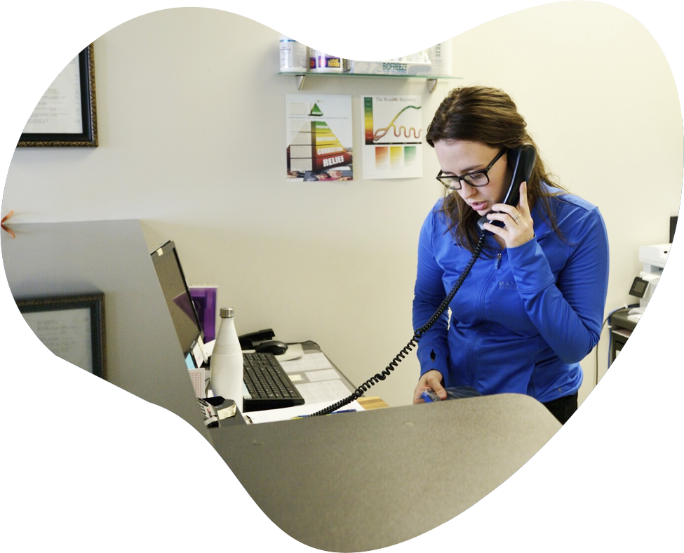 Matheson Chiropractic & Wellness Centre staff on phone