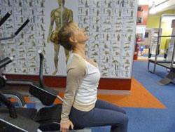 seated neck exercise