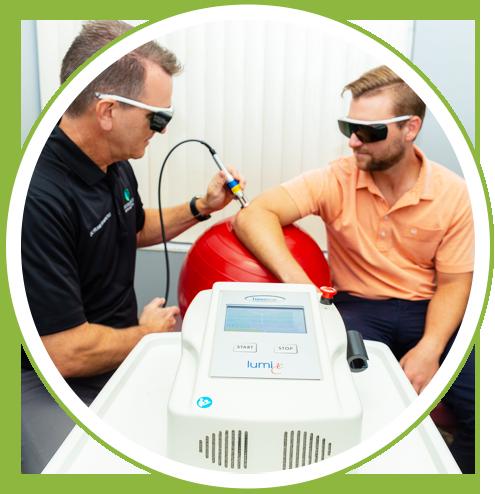 Dr. Frank lasering patient