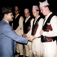 Dr. Wood and other chiropractors are formally thanked for their efforts by Crown Prince Dipendra of Nepal.
