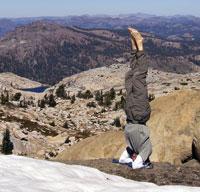 Heading toward the summit, central Sierra.