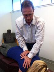 Adjusting a patient.